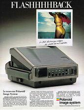 PUBLICITE ADVERTISING 094  1987  POLAROID   image system  FLASHHHHBACK