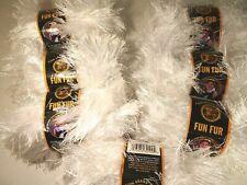 Lion BRAND Fun Fur White Yarn 50g 64 Yd