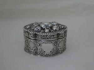 Antique Silver Box Berthold Muller London 1896