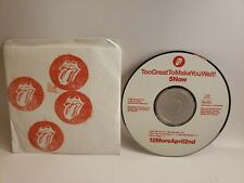 Orig '91 Promo Only THE ROLLING STONES Too Great To Make You Wait CD Flashpoint