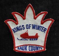 """C.1972 """" Kings Von Winter """" Sauk Grafschaft Baraboo Wi Wisconsin Schneemobil"""