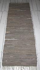Tappeto lungo pelle GRIGIO-MARRONE OLIVA FRANGIA 70 x 200 corridoio
