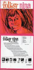 CD Nina SIMONE Folksy Nina | Mini LP REPLICA CARD SLEEVE | 9-TRACK CD