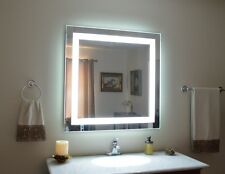 """MAM84040 40"""" x 40"""" lighted vanity mirror, wall mounted, LED, makeup mirror"""