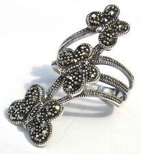 36 x Markasit 925 Silber großer Ring Schmetterlinge FLYING SILVER BUTTERFLIES
