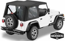 1997-2006 Jeep Wrangler (TJ) Replacement Soft Top with Clear Rear Windows Black