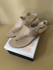 Marc By Marc Jacobs Tong Slides Sandals Nude Leather 38.5 Mint