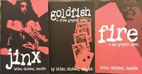 3x LOT Brian Michael Bendis Graphic Novel Jinx Goldfish Fire Paperback GD+ fr/sh