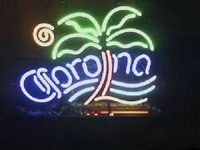 "New Corona Palm Tree Beer Neon Sign 17""x14"""