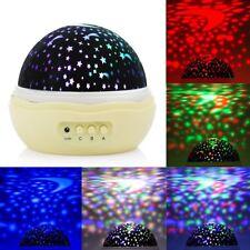 LED Star Moon Sky Rotating Night Light Romantic Cosmos Projector Lamp M-LD145