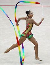 Best quality Gymnastics satin streamer and wand rod Praise worship dance ribbon