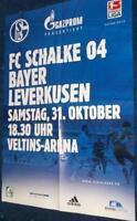 Spielplakat + Poster + FC Schalke 04 vs Bayer Leverkusen + 31.10.2009 + Sammler