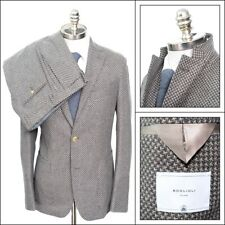 $2,395 NWT BOGLIOLI Unconstructed Tweed Birdseye Camel/Brown Travel Suit 48 38 R