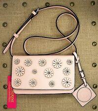 Catherine Malandrino Juliet Crossbody Blush Faux Leather Purse Flowers MSRP $78