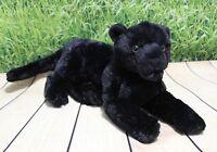 "Wild Republic LAYING BLACK JAGUAR 12"" Plush Cuddlekins Stuffed Panther NEW"