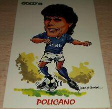 CARD GOLD 1993 NAPOLI POLICANO CARICATURA CALCIO FOOTBALL SOCCER ALBUM