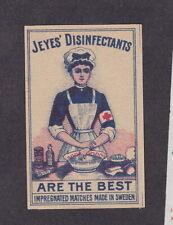 Ancienne étiquette  Allumettes Suède BN13336 Désinfectant infirmière