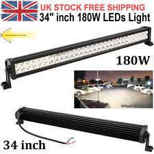 "34"" 180W LED Spot Flood Work Bar SUV Driving Light Lamp Off Road Jeep Boat SUV"