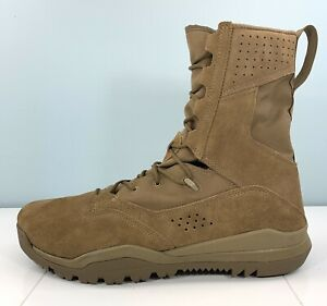 """Nike SFB Field 2 8"""" Leather Coyote Field Boot Tactical Combat AQ1202-900 Size 12"""