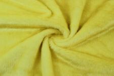 Ecopelliccia gialla pelo 2 cm STOFFA AL METRO TESSUTO A METRAGGIO