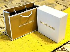 "MICHAEL KORS GIFT STORE PAPER SHOPPING BAG 10"" X 8"" X 4"" + Box, Tissue NEW"