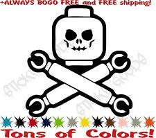 Lego Movie Skull and Crossbones Vinyl Decal Sticker Car Window Tablet USA! BOGO!