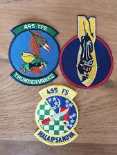 USAF patch set 9 3 RAF Lakenheath patches F-15E 494 FS EFS See other sets