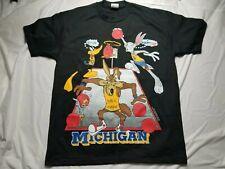 Vintage Michigan University Wolverines Looney Tunes SPACE JAM Graphic Shirt 90s