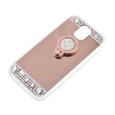Bling Diamond Crystal Ring Holder Kickstand Mirror Stand Case For iPhone Samsung
