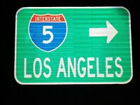 Interstate 5 LOS ANGELES route road sign -CAL TRANS- California, Dodgers, Lakers