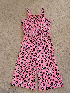 Girl Size 4/5 Cheetah Romper/jumpsuit Wonder Nation