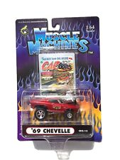 MUSCLE MACHINES CARTOONS '69 CHEVELLE MICKEY THOMPSON  1:64 SCALE