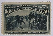 Travelstamps: 1893 US Stamps Scott #240 50c slate blue,Mint, Ng, Columbian Issue