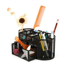 Desk Organizer Metal Mesh Office Pen Pencil Holder Storage Desktop Tray Black