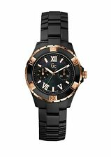 New GC Guess Collection Crystal Chronograph Ceramic Black Watch X69004L2S $695