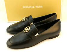 MICHAEL KORS Size 9.5 M Black Heather MK Logo Womens Fashion Loafer MSRP $110
