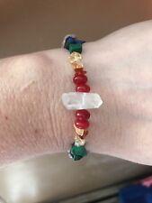 Unite Earth Tribes Herkimer Diamond Crystal Bracelet Handmade