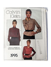 Vogue 1995 Calvin Klein Pattern Size 10 American Designer Original Factory Folds