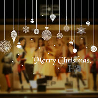 Merry Christmas Snowflake Removable Mural Wall Sticker Art Decal Xmas Home Decor