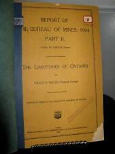 Ontario Bureau of Mines Limestones of Ontario 1904 Part 2- Willet Miller - F-G