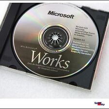 ORIGINAL MICROSOFT OEM CD MIT WORKS 4.5 FÜR WIINDOWS 95 98 ID DE MS COMPACT DISC