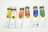 Winsor Newton Galeria Paints Partial Tubes Acrylic White Red Green Yellow Lot 6