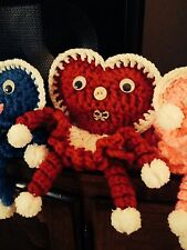 heart dolls  crocheted from 50 yr old pattern