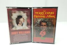 Cassette Tapes Lot of 2 Perry Como Christmas Album & Andy Williams Present