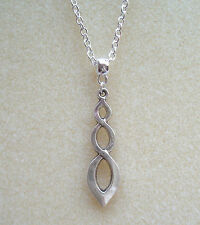 "Spiral Twist Goddess Pendant 20"" Chain Necklace in Gift Bag - Rebirth Awareness"