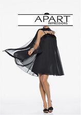 top edles APART Chiffon Kleid Abendkleid mit Pailletten NEU schwarz