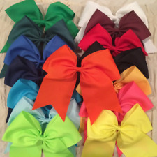 """Chixx Cheer Hair Bows-Solid Basic Cheer Bows 7"""" x 7"""" - Shipped from the U.S.A."""