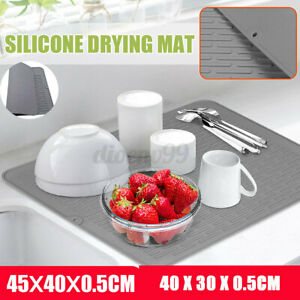 🔥 Silicone Dish Drying Non-Slip Mat Heat Resistant Pot Holder Kitchen Draining
