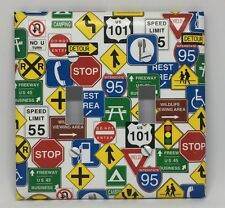 Road Signs Light Switch Cover Plates Highway Garage Man Cave Truckers America