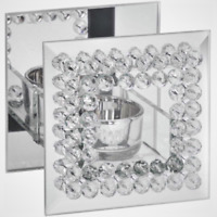 The Leonardo Collection - Diamante Square Mirrored Tealight Holder